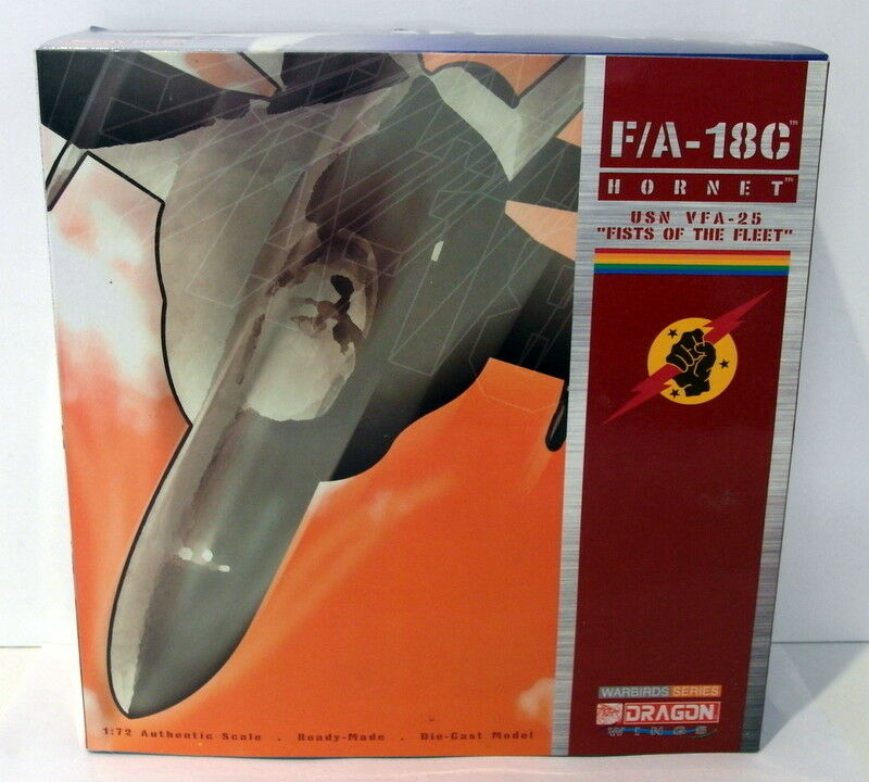 Dragon 1 72 Scale diecast 50034 F A-18C Hornet USN VFA-25 Fists Of The Fleet