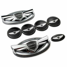 USA Seller Hyundai Genesis Coupe Silver Chrome WING Logo Emblem Set 7pcs
