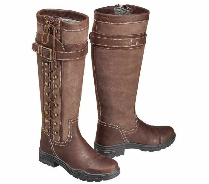 SAVE  Country Boots Harry Hall Overstone Adults Mens UK8-UK11 Waterproof SALE