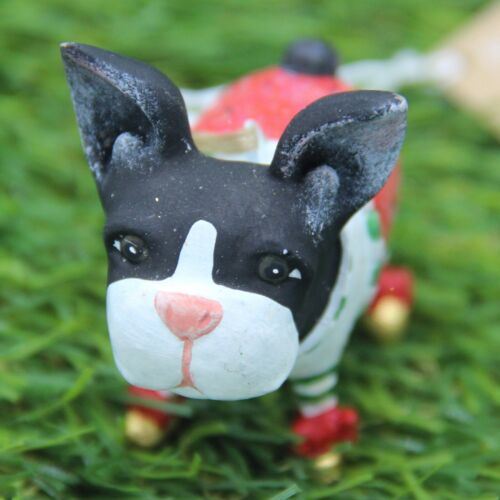 8 cm Mini Boston TerrierKrinkles by Patience BrewsterGröße ca