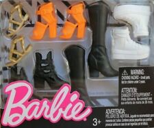 Barbie Adorable Accessories Shoe Pack~2018~Hi Top Sneakers*Boots*Orange Heels