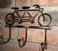 Tandem Bicycle Metal Wall Decor Wall Decor Key Holder 3 Prong Wall Hanger Metal
