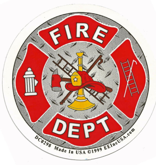 FIRE DEPARTMENT - FOIL STICKER