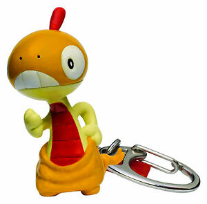 Pokemon SCRAGGY Keychain Keyring Poke Ball S25 Zuruggu Retired Manga Anime NEW