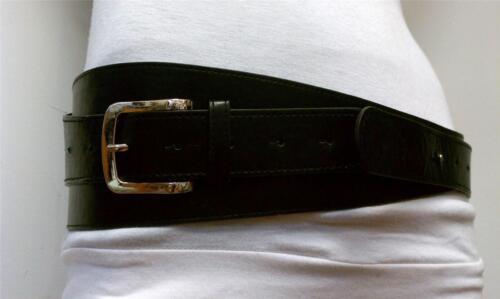 Fashionable Western Style Waist Black Belt Metal Elegant Buckle Size M L XL