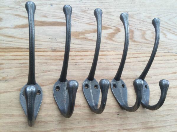 (3038ai) 5 X Cast Iron Classic Old Retro Style Coat Hooks Hanging Rack Hooks Aantrekkelijk En Duurzaam
