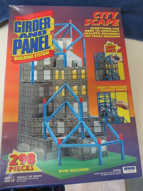 IRWIN GIRDER AND PANEL BUILDING SYSTEM SET CITY SCAPE 298 PIECES # 55120 NOS