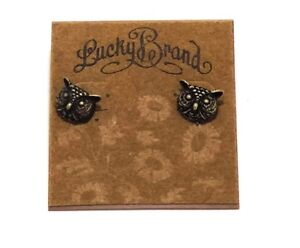 Details About Lucky Brand Vintage Style Stud Owl Earrings