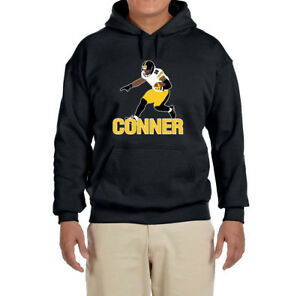 3c3cda80093 Image is loading Pittsburgh-Steelers-James-Conner-Hooded-sweatshirt