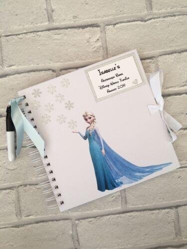 Personnalisé Princesse Elsa Disney World//LAND autographe//Mémoire Livre//Journal