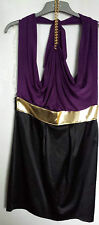 Womens Halter Neck Dress - Lipsy, London - Purple & Black - BNWT £60 - Size 12