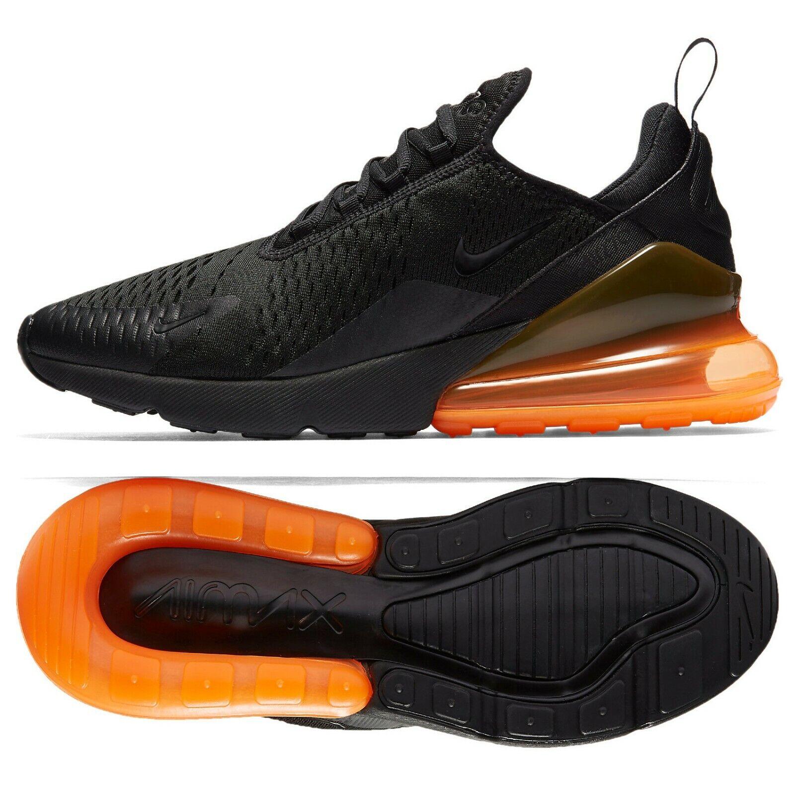 Nike Air Max 270 AH8050-008 Black Total orange Men's Running shoes
