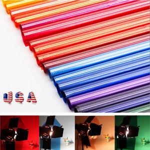 US-Colors-Lighting-Filter-Gel-Sheets-16x20-034-40x50cm-For-Photo-Camera-Studio-Lamp