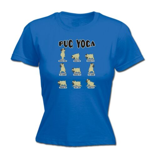 Pug Yoga WOMENS Fitted T-SHIRT Dog Pilates Exercise Fitness Gym birthday gift