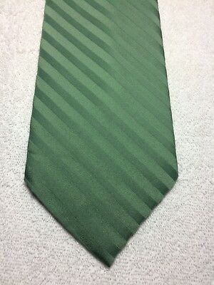 Vintage Yves Rocher Herren Krawatte 4.25 X 58 Grün Gestreift