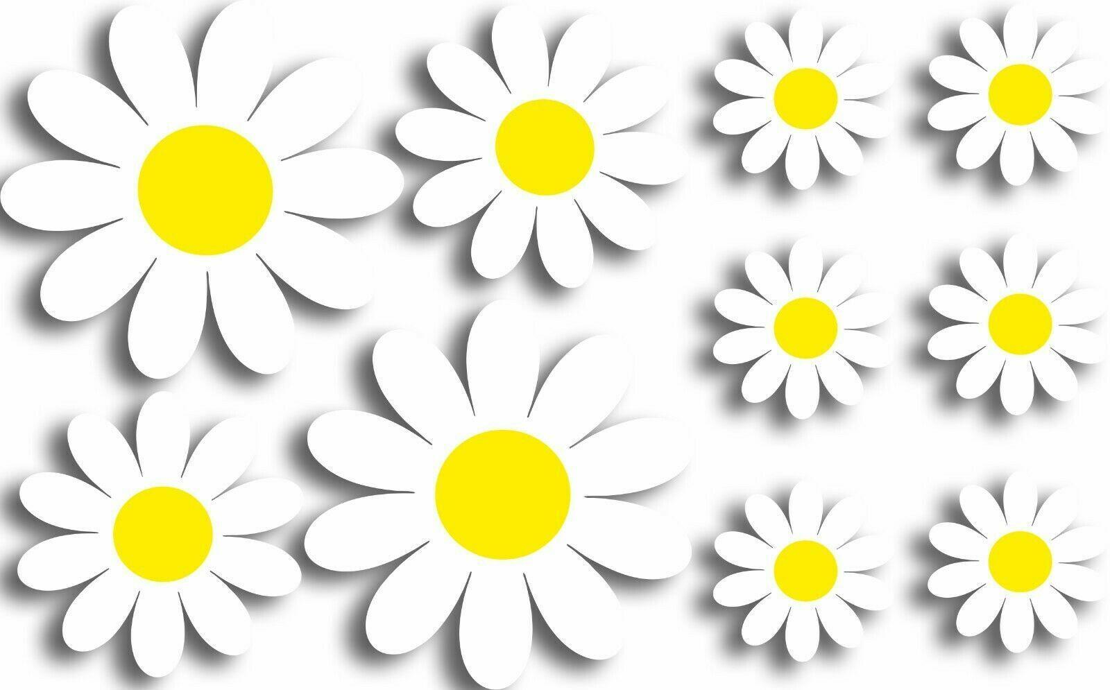 Daisy Flowers Personalised Wall Art Sticker