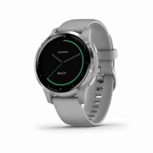 Garmin Vivoactive 4S Smartwatch (Powder Gray/Stainless