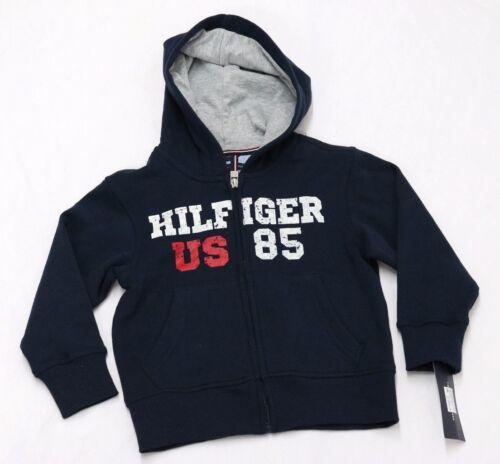 Tommy Hilfiger Boys Hilfiger 85 Fleece Zip-Up Hoodie Swim Navy Size 4 16//18 L