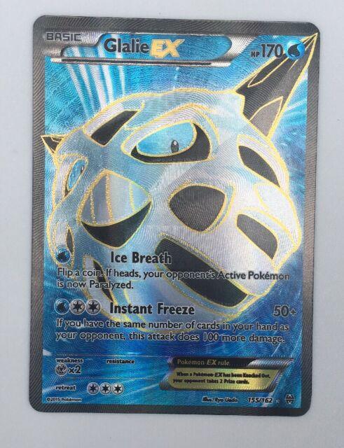 Pokemon Card   GLALIE EX  Ultra Rare FULL ART  155//162  BREAKTHROUGH ***MINT***