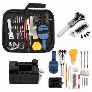 144-tlg-Uhrmacherwerkzeug-Uhrenwerkzeug-Set-Reparatur-Gehaeuseoeffner-mit-Tasche