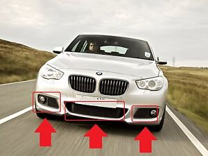 BMW-F07-5-GT-SERIES-NEW-GENUINE-M-SPORT-FRONT-BUMPER-GRILLES-SET-OF-3-PIECES