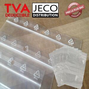 Lot Sachets zip plastique fermeture ZIP Transparent pochon Pochette pression 50µ