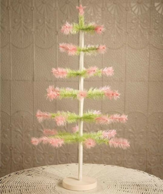 Does Lowes Sell Christmas Trees: Bethany Lowe Easter Feather Tree Green With Pink Tips 24
