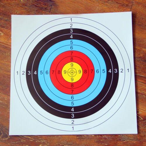 Archery Target Faces Suitable For Bows /& Crossbows Heavy Gauge 40*40cm 10Pcs RA8