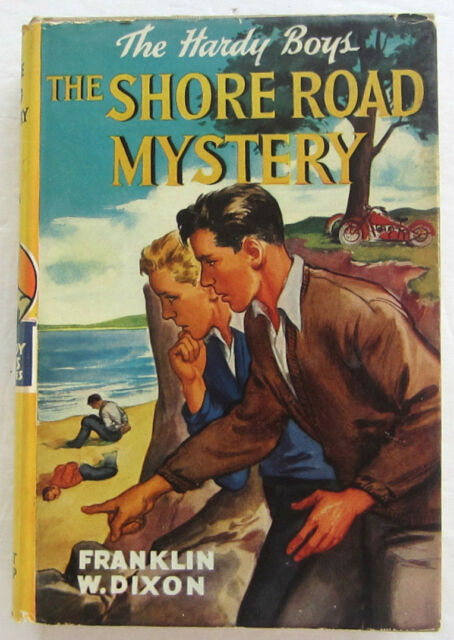 Hardy Boys #6 SHORE ROAD MYSTERY Franklin W Dixon Yellow Spine Dust Jacket