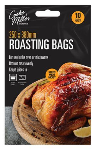 10 pack Large Roasting Chicken Turkey Bags Seal Baste Oven Meat Roast Microwave