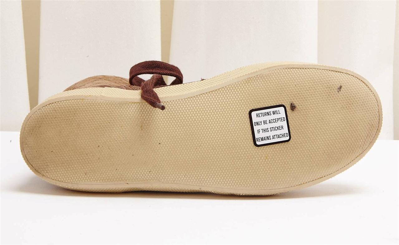 Chloe marrón De Acolchado Gamuza Piel De marrón Serpiente Con Encaje alta Top tenis Zapato 5-35 093bca