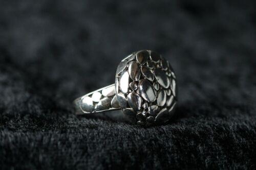 925 él anillo de plata alrededor del macizo extravagante forma hermosa talla 57 r167-8