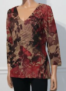 Women-039-s-Coldwater-Creek-3-4-Sleeve-Blouse-Top-Multi-Size-M-10-12