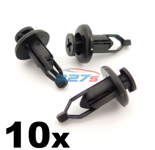 10x 9mm Front /& Rear Plastic Bumper Clips Fits Toyota Lexus Same as 90467-09143