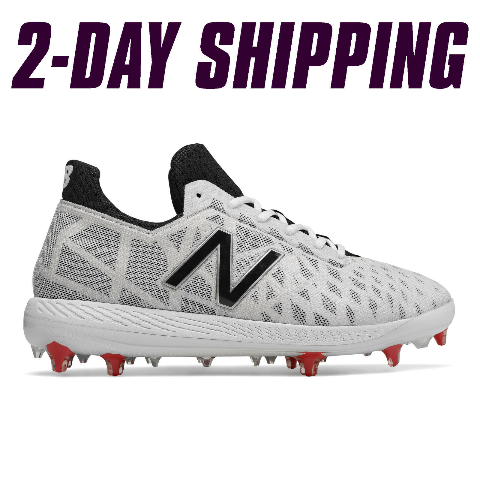 Nuovo Balance Baseball Low-Cut COMPv1 *2DAY Comp Cleats bianca -COMPTW1 *2DAY COMPv1 SHIP* 40752a