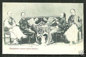 Singapore 110 Chinese Opium Smokers ca 1899