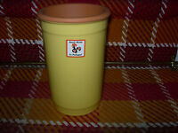 Clay Wine Cooler--yellow Glaze--7 1/2 High-reduced -y34