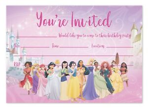 BEAUTY /& THE BEAST CHILDRENS BIRTHDAY PARTY INVITES INVITATIONS X 10 PACK