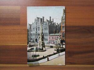 Old postcard - Chamberlain square and university - Birmingham