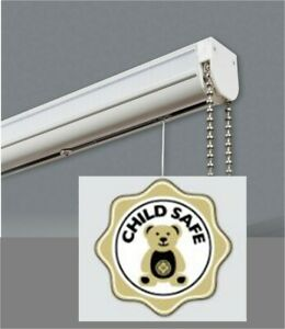 Cassette Roman Blind Complete Diy Kit Chrome White Brass