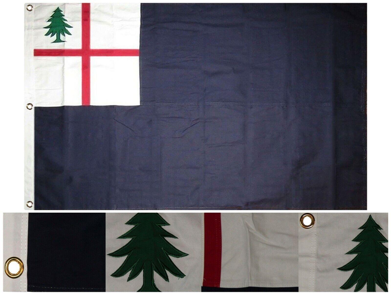 3x5 Bordado Cosidas Histórico Bunker Hill 100% Cotton Flag 0.9mx5 ' 3 Clips