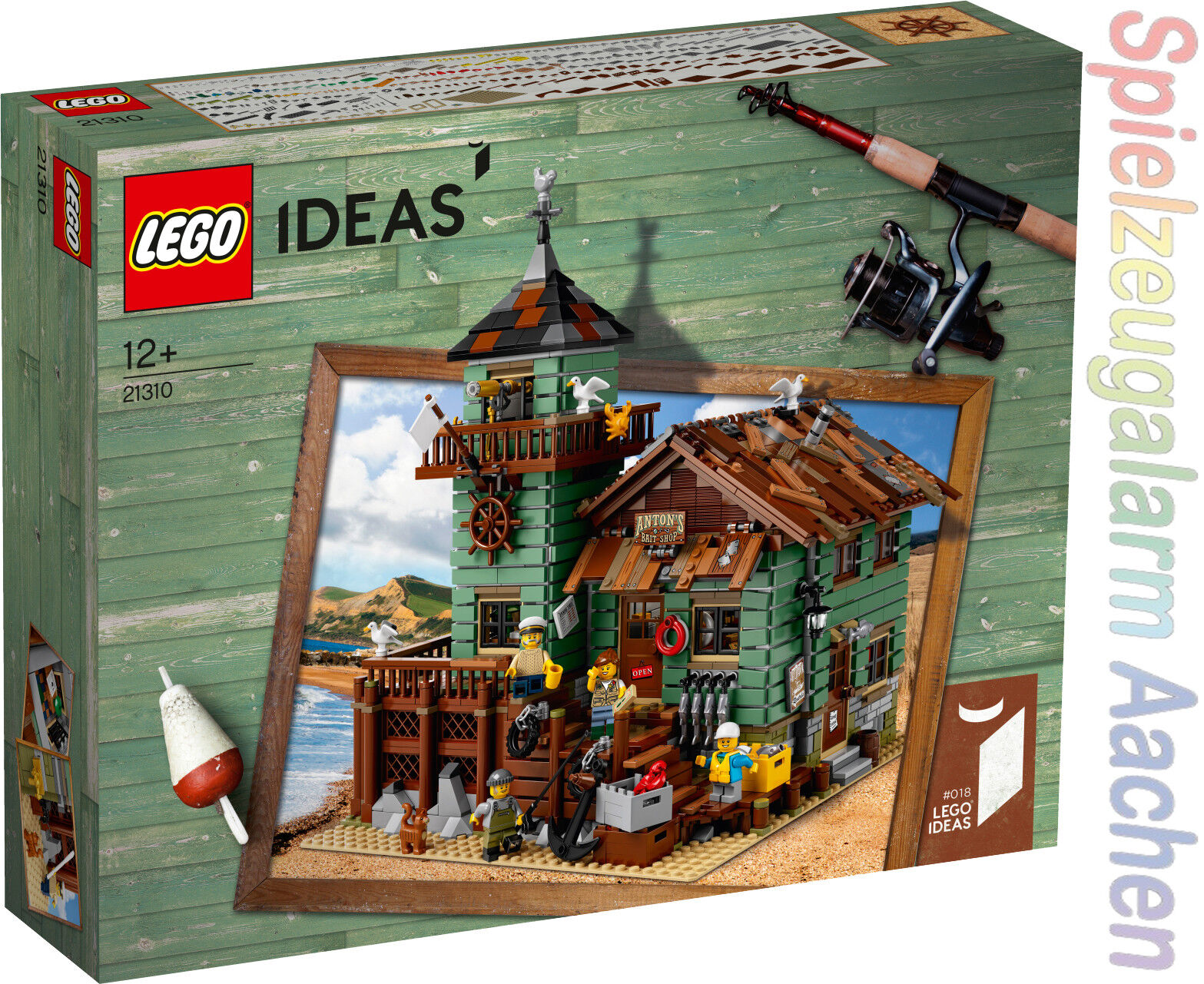 Lego ® ideas 21310 edad angel cargar old fishing Store Design modelo Super rar