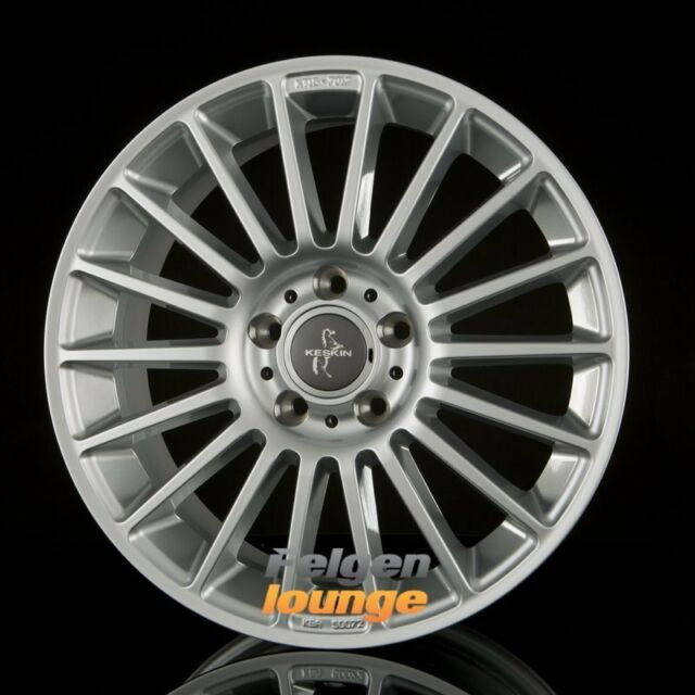4 Alufelgen KESKIN KT15 SPEED Silver Painted (SL) 7x17 ET48 5x112 ML66,6 NEU