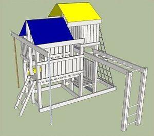 Detailed Plans Blue Prints To Build Kids Play Set Slide