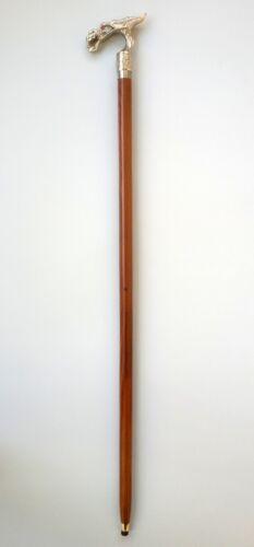 "Vintage Hand Carved Chrome Dragon Walking Stick Head 36/"" Folding Cane Gift Item"
