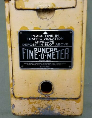 """NOW AVAILABLE /""""METAL/"""" DUNCAN PARKING METER FINE-O-METER INSTRUCTION /""""PLATE/""""."""