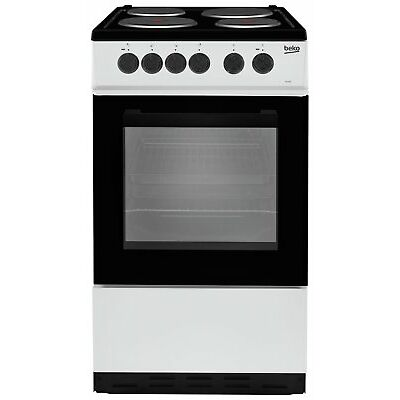 Beko KS530S Free Standing 50cm 4 Hob Single Electric Cooker - Silver.
