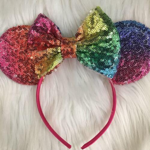 Rose Gold Minnie Ears,Red Minnie,princess Minnie,potion purple Rainbow Minnie