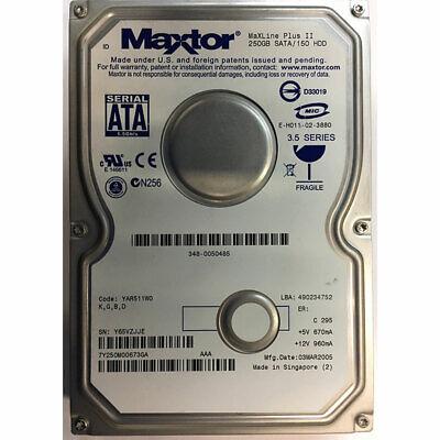 Maxtor 7Y250M00654RA 250GB Internal Hard Drive SATA 7200RPM