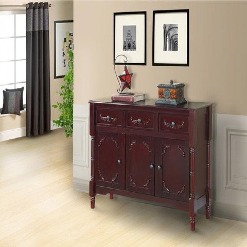 Pilaster Designs-Bois Console buffet table avec tiroirs de rangement et Cerise...